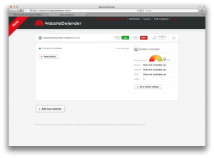 WebsiteDefender Success Dashboard
