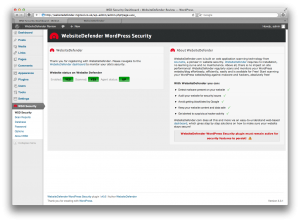 Website Defender WSD Security Status